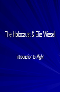Cover image of The Holocaust and Elie Wiesel