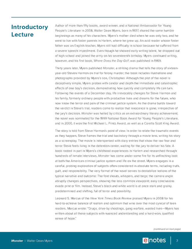 monster enotes lesson plan preview image 3