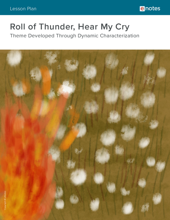 roll of thunder, hear my cry character analysis lesson plan preview image 1