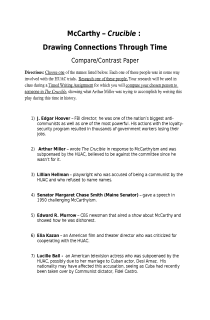 Topics For A Proposal Essay Mccarthyismcrucible Comparison Essay What Is A Thesis Of An Essay also How To Write A Thesis For A Persuasive Essay Mccarthyismcrucible Comparison Essay  This Is An  Activities English Essays