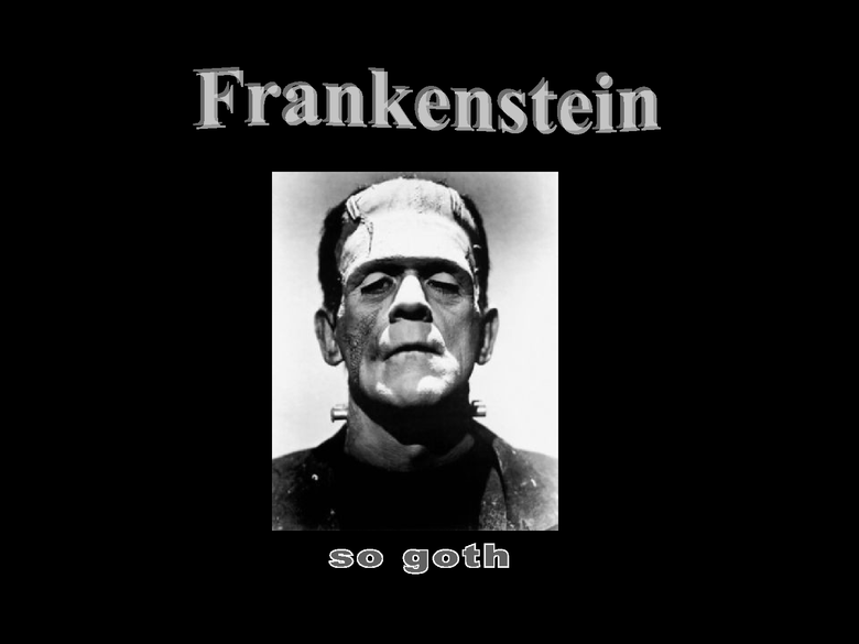 frankenstein presentation preview image 1