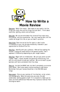 tips for writing a movie review