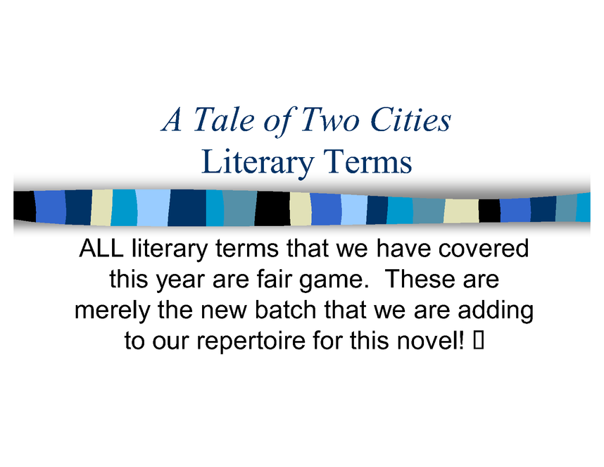 a tale of two cities: literary terms preview image 1