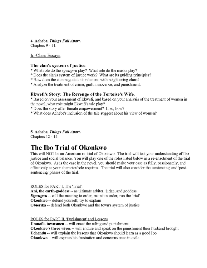 syllabus: achebe, things fall apart preview image 4