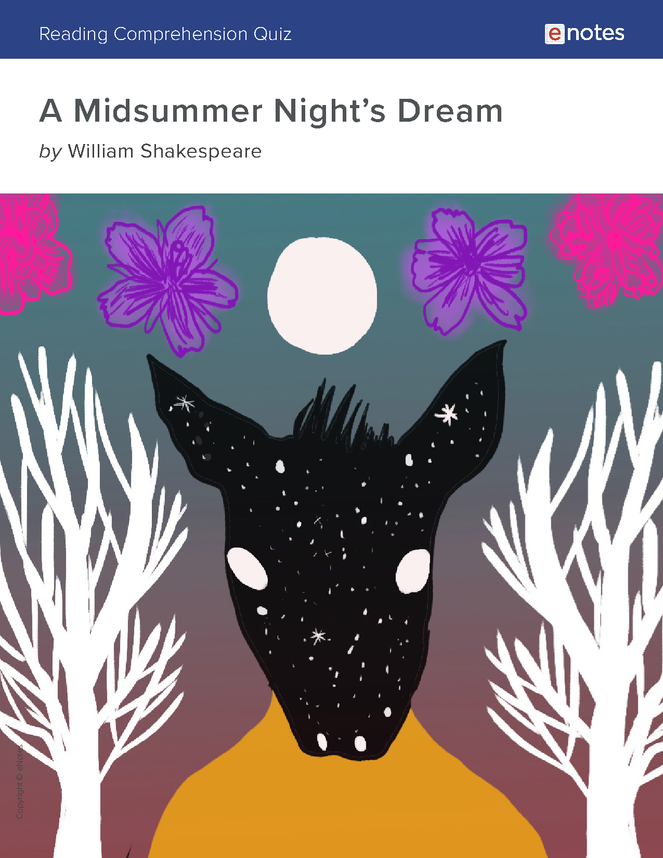 a midsummer night's dream reading comprehension quiz preview image 1