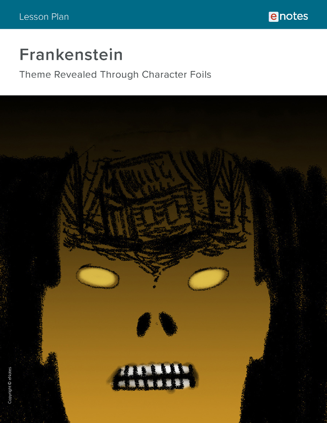 frankenstein character analysis lesson plan preview image 1