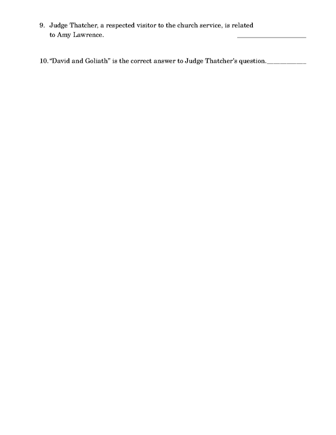 the adventures of tom sawyer quiz: chapters 1-4 preview image 2