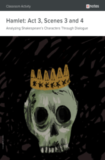 Cover image of Hamlet Act 3, Scenes 3 and 4 Dialogue Analysis Activity