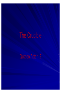 the book cover of The Crucible Acts I-II