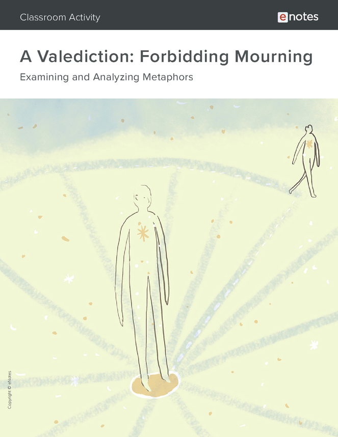 a valediction: forbidding mourning metaphor activity preview image 1
