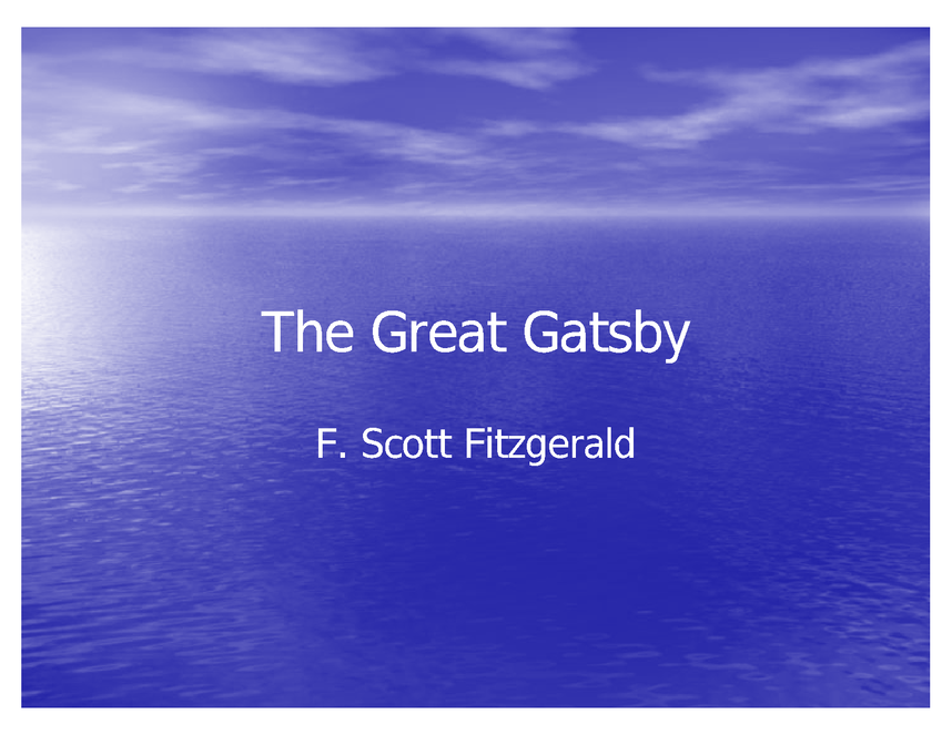 the great gatsby powerpoint preview image 1
