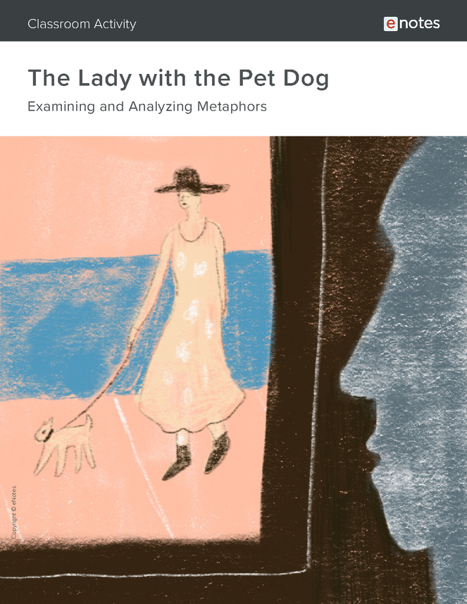 the lady with the pet dog metaphor activity preview image 1