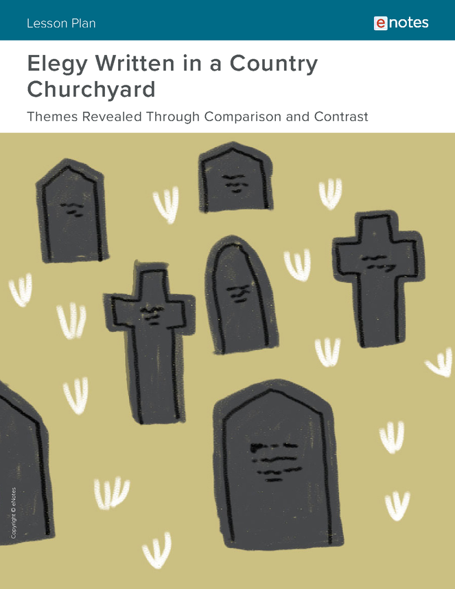 elegy written in a country churchyard themes lesson plan preview image 1