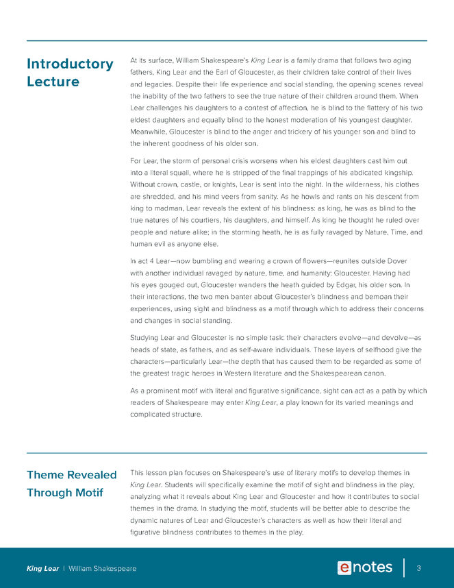 king lear themes lesson plan preview image 3