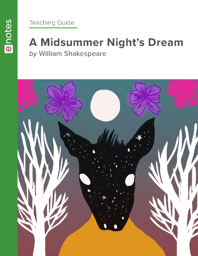 a midsummer night's dream enotes teaching guide preview image 1