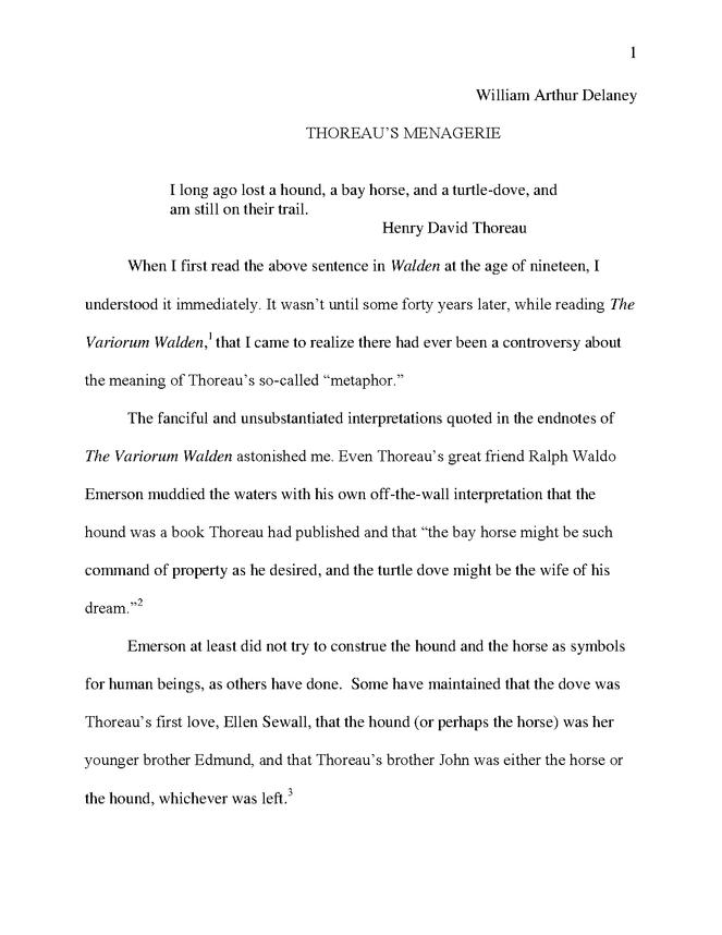 thoreau's menagerie preview image 1