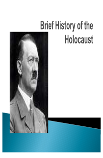 Cover image of Brief Holocaust History Ppt