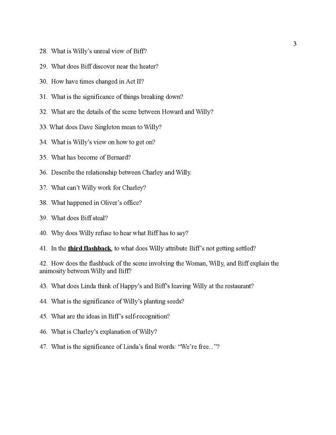 study questions for death of a salesman preview image 3