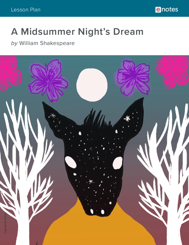 a midsummer night's dream enotes lesson plan preview image 1