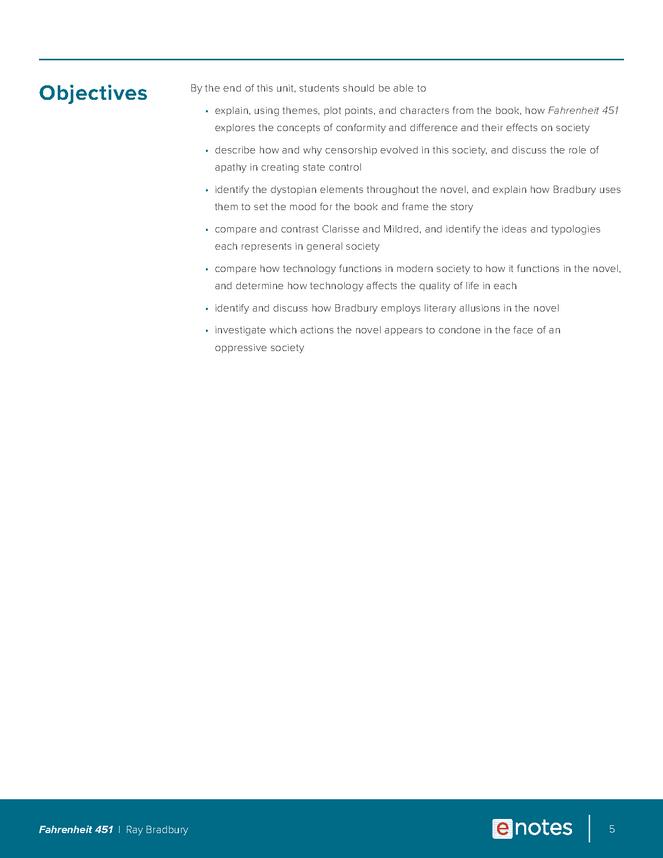 fahrenheit 451 enotes lesson plan preview image 5