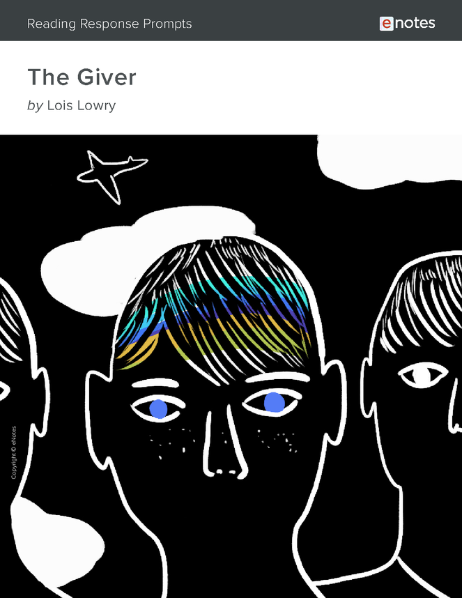 the giver enotes reading response prompts preview image 1