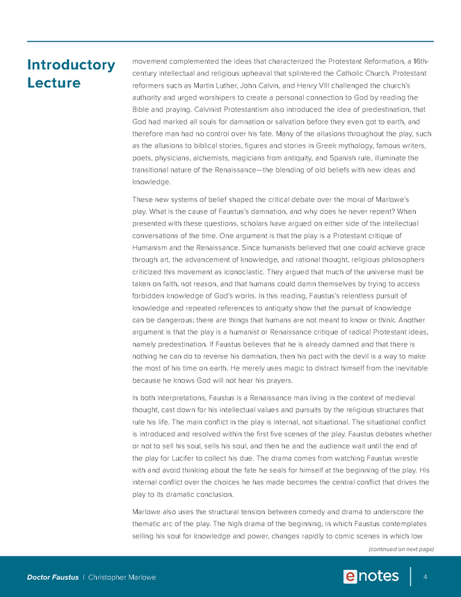 doctor faustus enotes lesson plan preview image 4