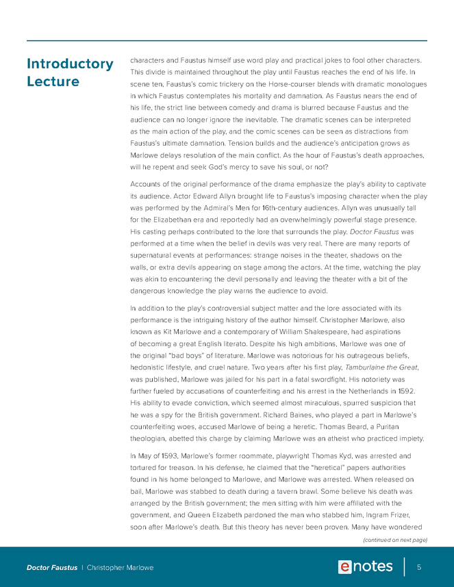 doctor faustus enotes lesson plan preview image 5