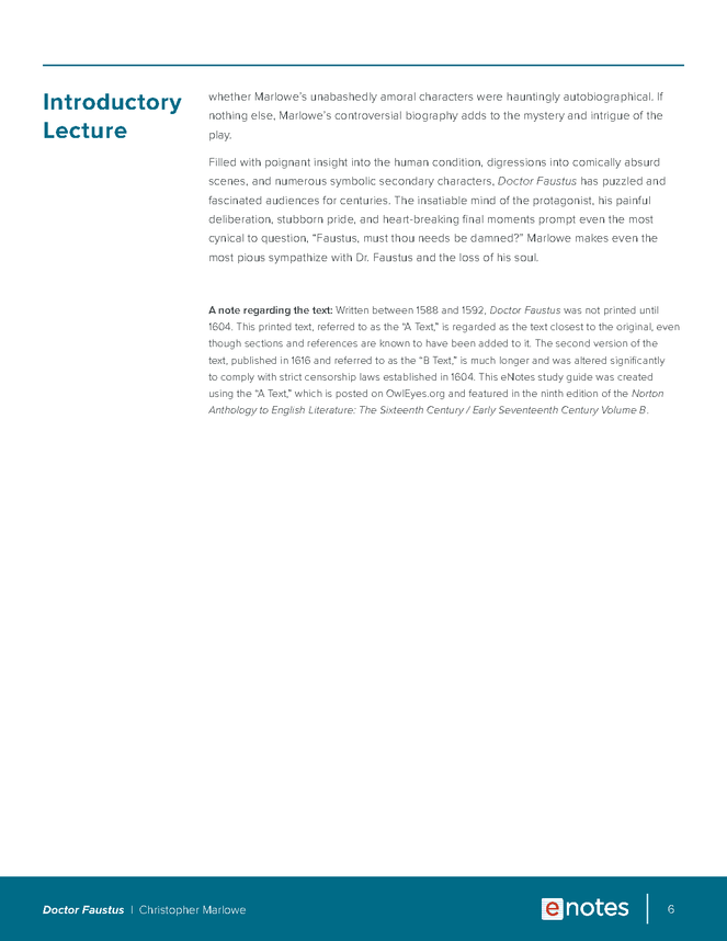 doctor faustus enotes lesson plan preview image 6