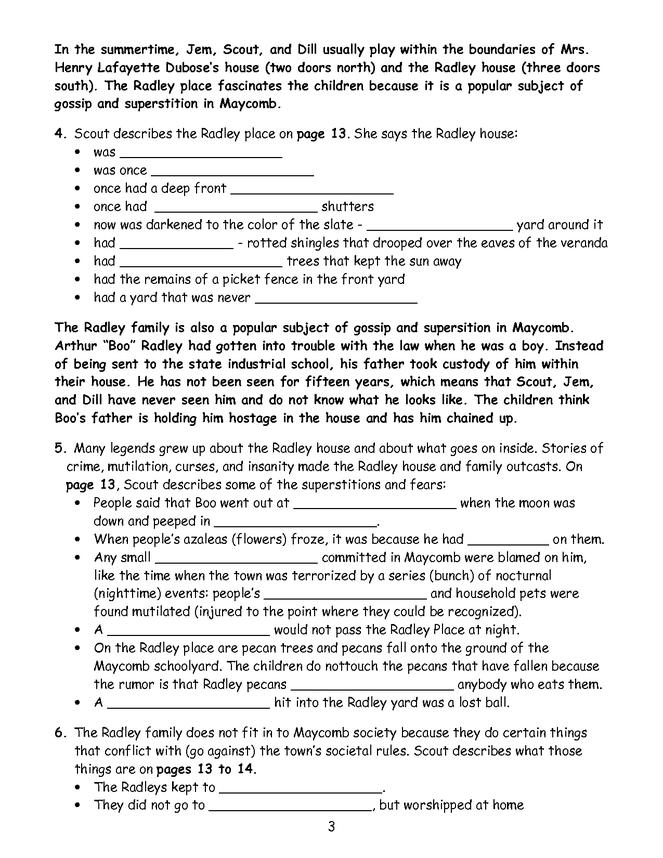 to kill a mockingbird chapter 13 answers