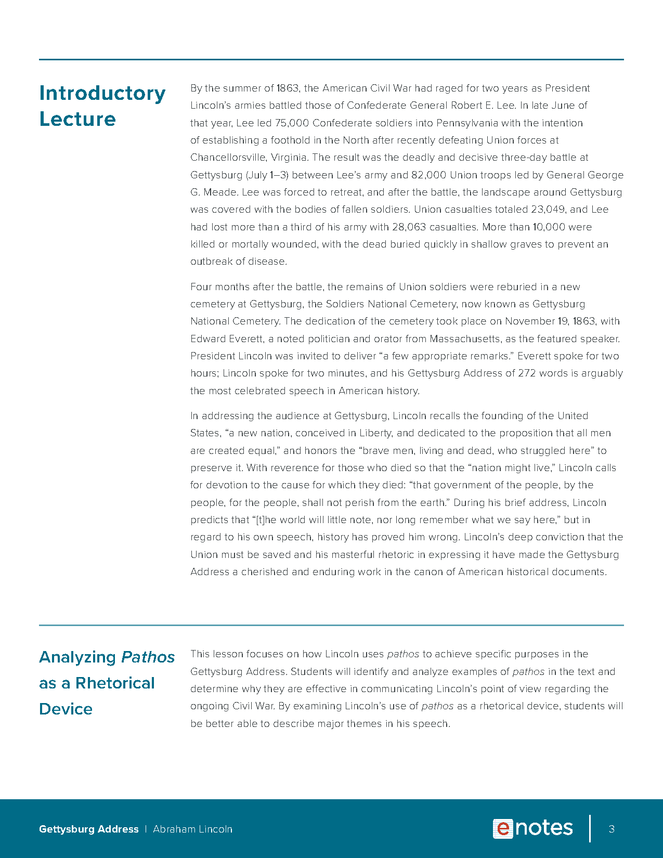 gettysburg address lesson plan preview image 3