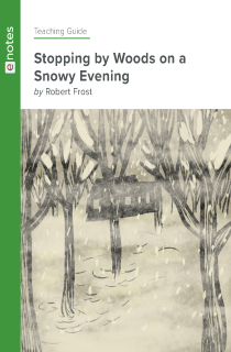Cover image of Stopping by Woods on a Snowy Evening eNotes Teaching Guide