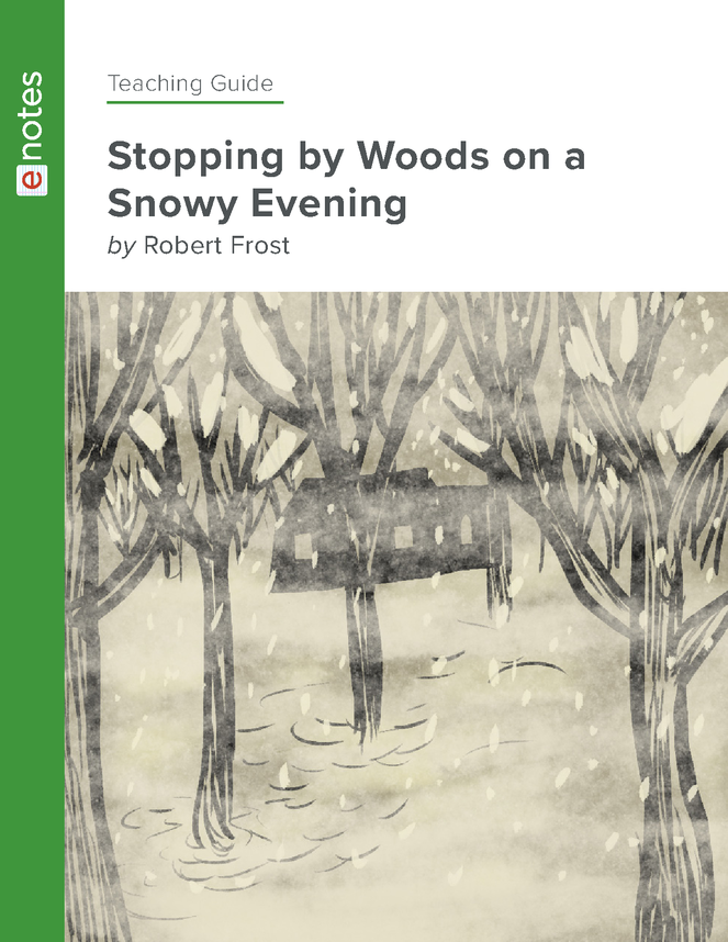 stopping by woods on a snowy evening enotes teaching guide preview image 1