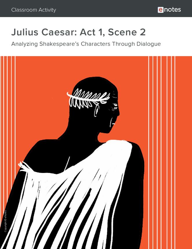 julius caesar act 1 scene 2 dialogue analysis activity preview image 1