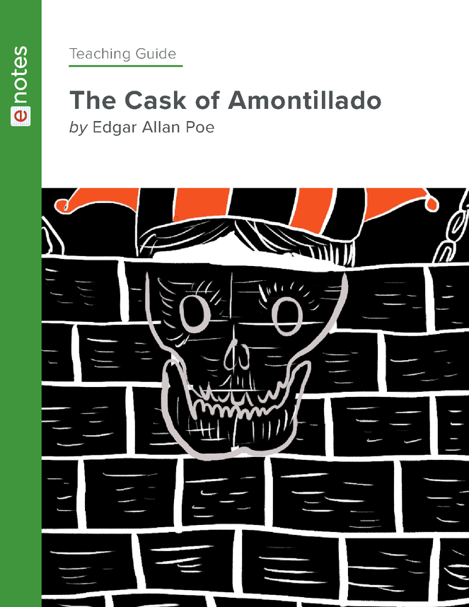 the cask of amontillado enotes teaching guide preview image 1