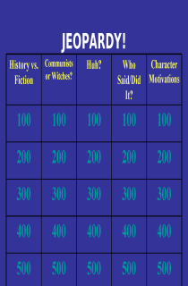 the book cover of Jeopardy Game for The Crucible