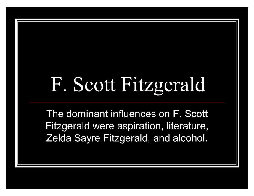 f. scott fitzgerald and great gatsby preview image 1