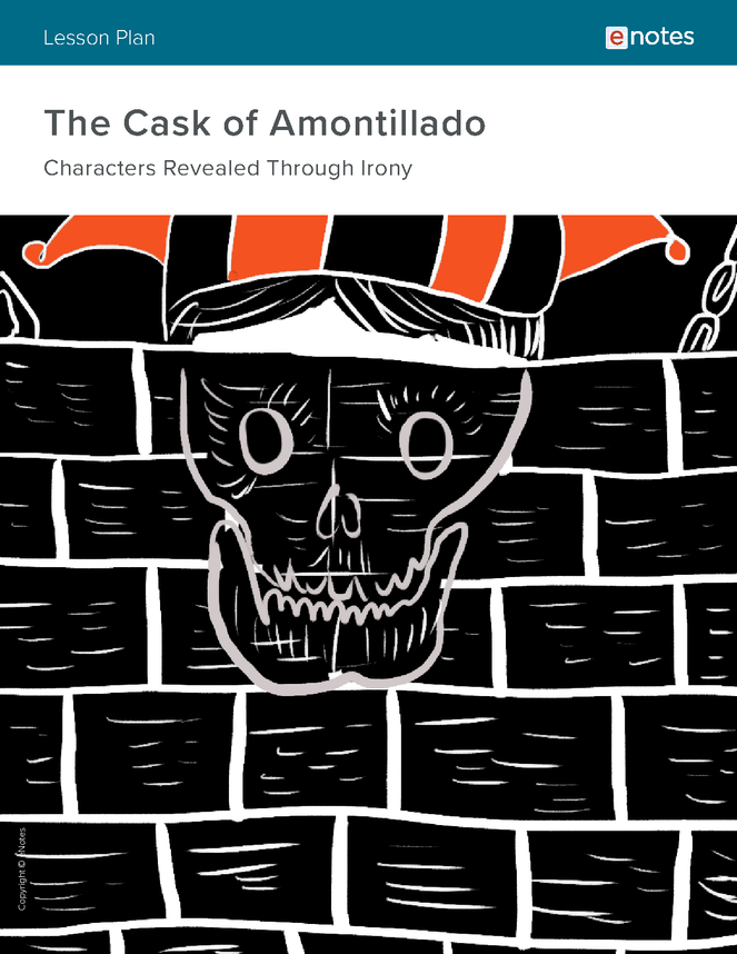 the cask of amontillado literary devices lesson plan preview image 1