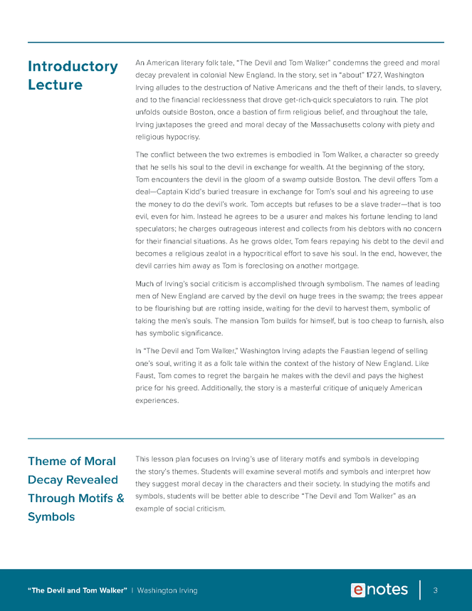 devil and tom walker themes lesson plan preview image 3