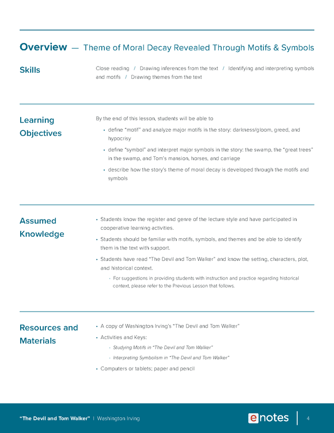 devil and tom walker themes lesson plan preview image 4