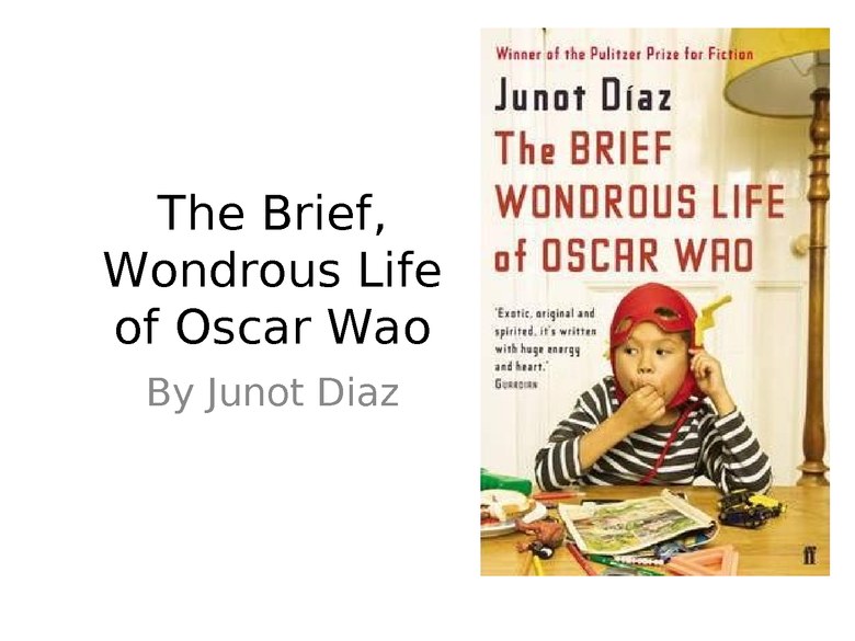 the brief wondrous life of oscar wao:  introduction power point preview image 1