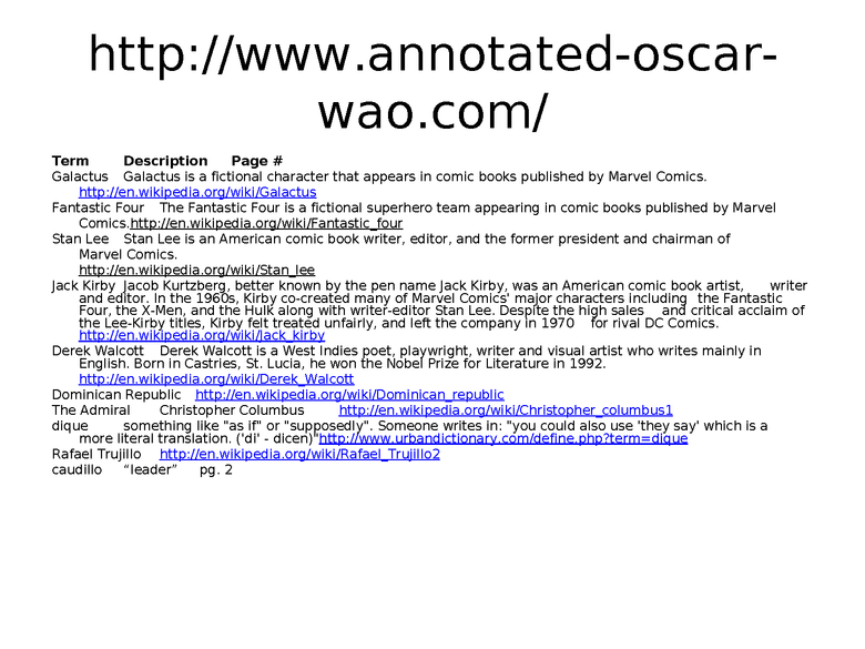 the brief wondrous life of oscar wao:  introduction power point preview image 2