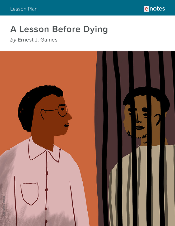 a lesson before dying enotes lesson plan preview image 1