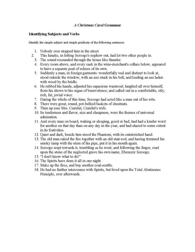 christmas carol grammar preview image 1