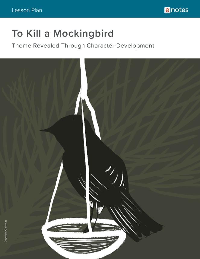 To Kill a Mockingbird Character Analysis Lesson Plan