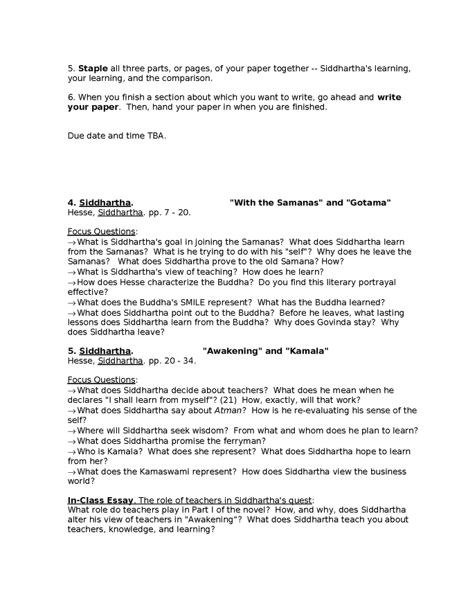 syllabus: hesse, siddhartha preview image 4