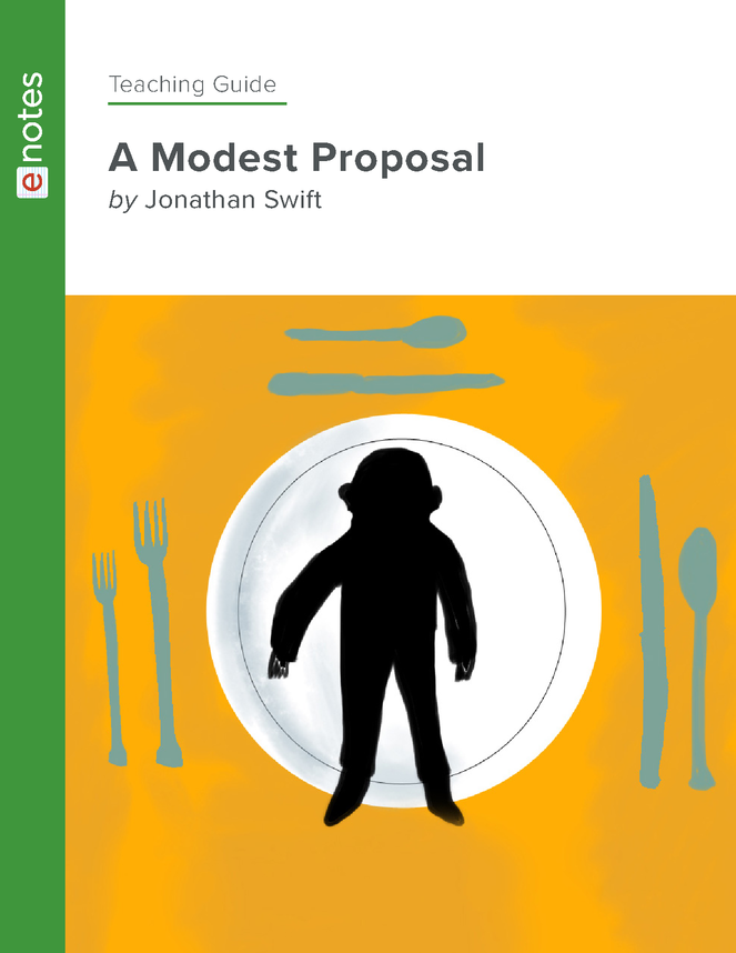 a modest proposal enotes teaching guide preview image 1
