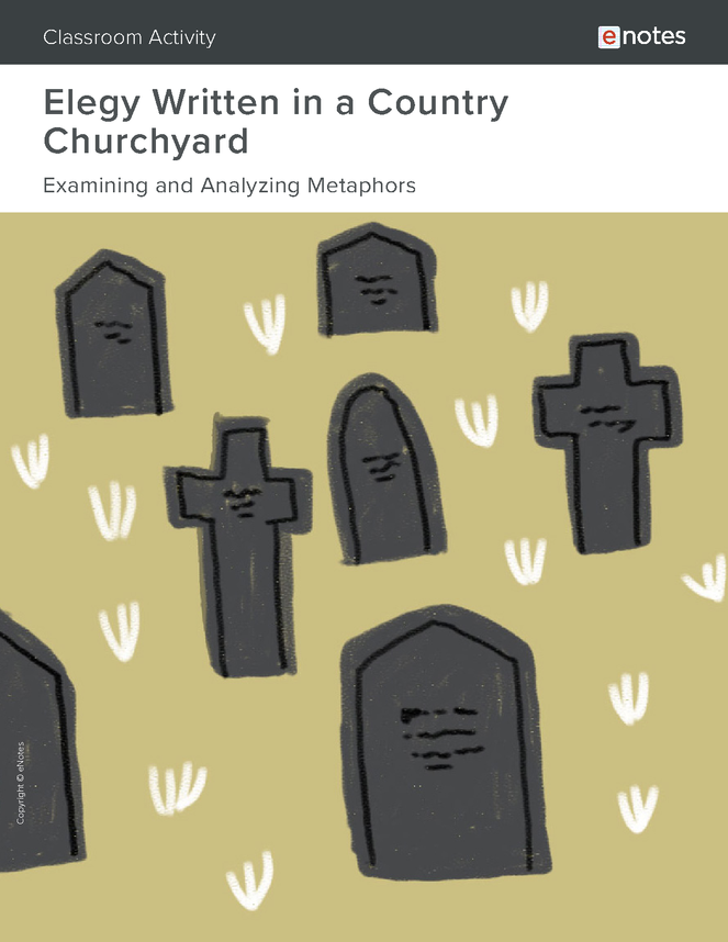 elegy written in a country churchyard metaphor activity preview image 1
