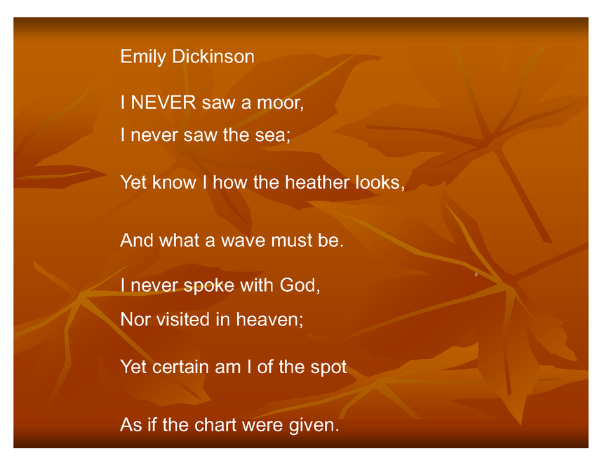 Mood of Poetry - Students will learn how to decipher the - Activities eNotes
