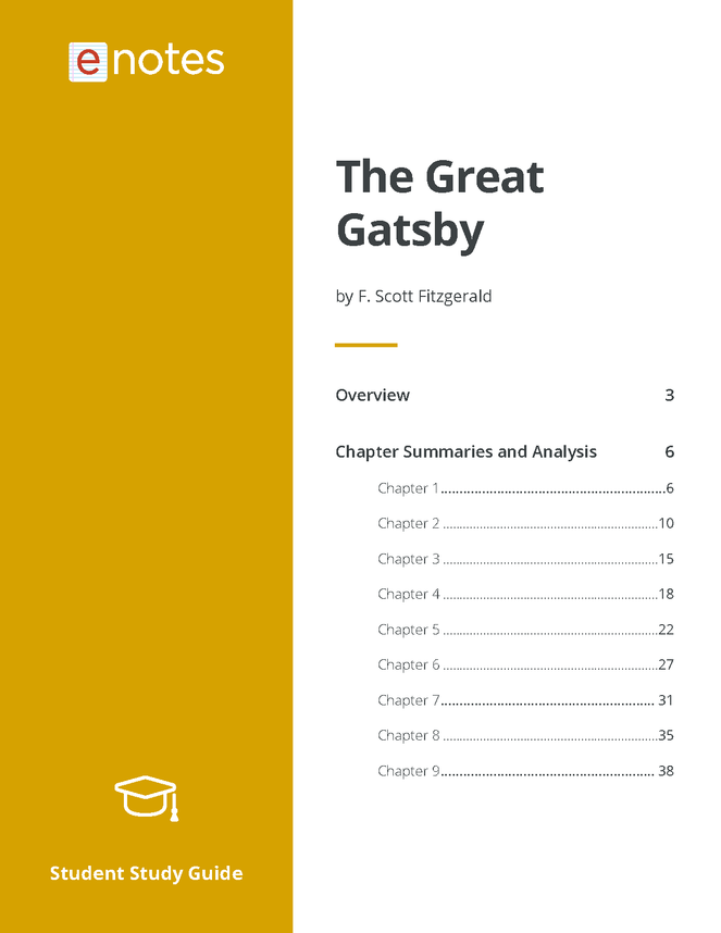 the original enotes study guide for the great gatsby preview image 2