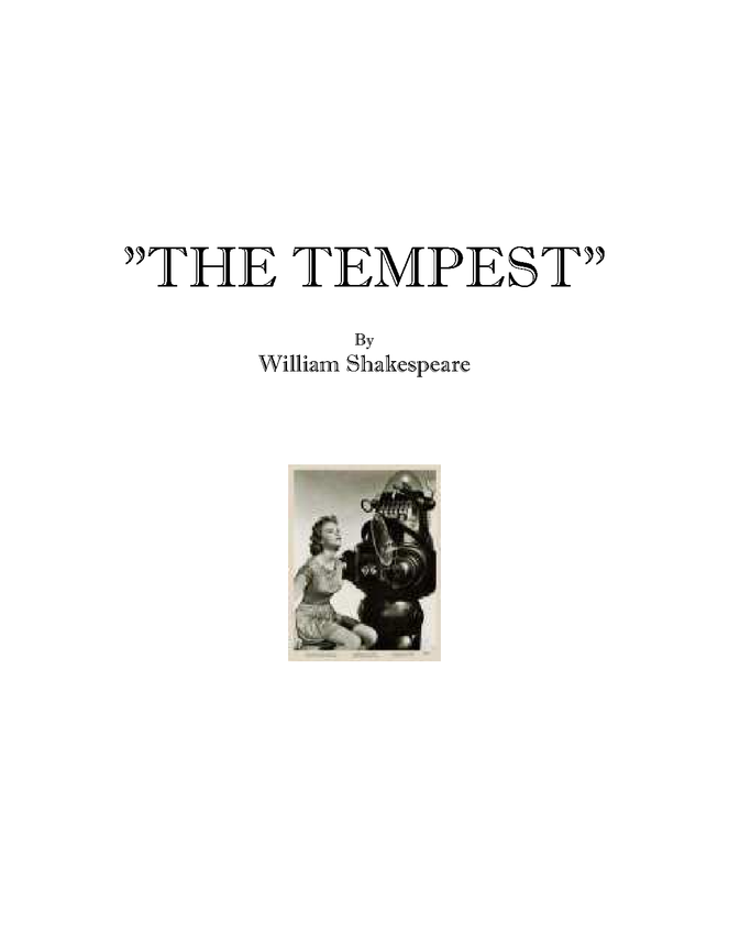 """syllabus: shakespeare, """"the tempest"""" preview image 1"""